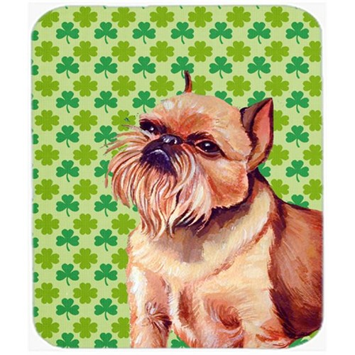 Carolines Treasures LH9179MP Brussels Griffon St. Patricks Day Shamrock Portrait Mouse Pad Hot Pad Trivet