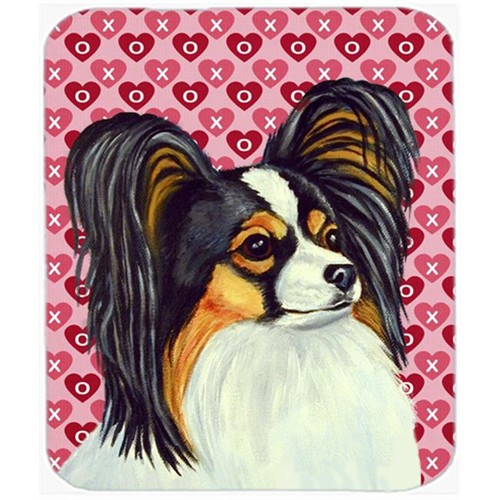 Carolines Treasures LH9165MP Papillon Hearts Love And Valentines Day Portrait Mouse Pad Hot Pad or Trivet