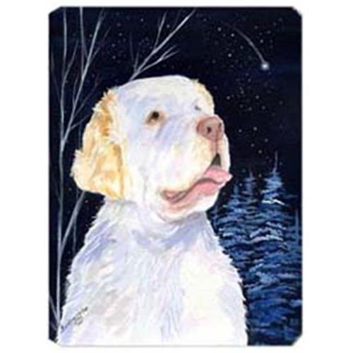Carolines Treasures SS8356MP Starry Night Clumber Spaniel Mouse Pad