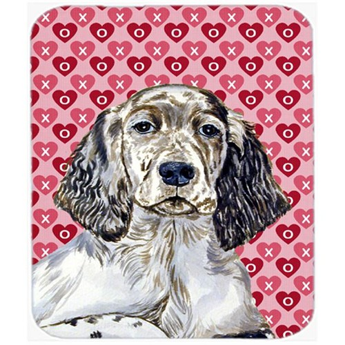 Carolines Treasures LH9142MP English Setter Hearts Love And Valentines Day Mouse Pad Hot Pad or Trivet