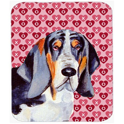 Carolines Treasures LH9147MP Basset Hound Hearts Love And Valentines Day Mouse Pad Hot Pad or Trivet