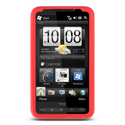 DreamWireless SCHTCHD2RD-PR HTC HD2 Premium Skin Case - Red