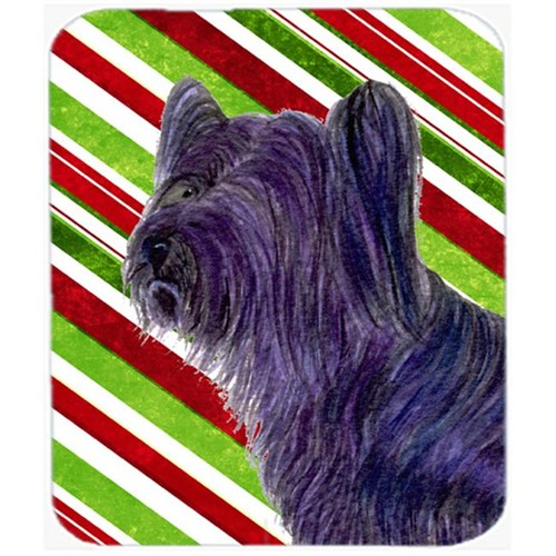 Carolines Treasures SS4532MP Skye Terrier Candy Cane Holiday Christmas Mouse Pad Hot Pad Or Trivet