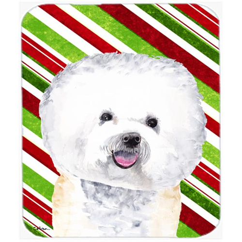 Carolines Treasures SC9322MP Bichon Frise Candy Cane Holiday Christmas Mouse Pad Hot Pad or Trivet