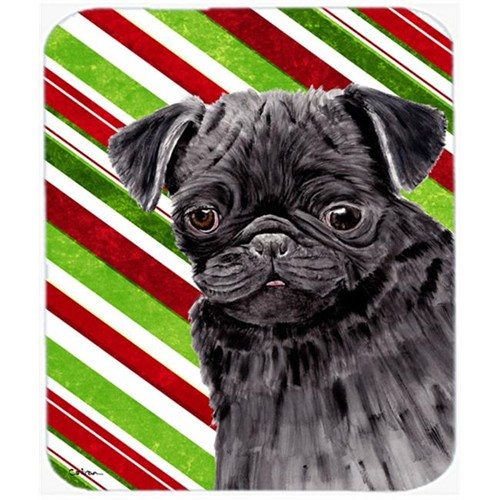 Carolines Treasures SC9326MP Pug Candy Cane Holiday Christmas Mouse Pad Hot Pad or Trivet