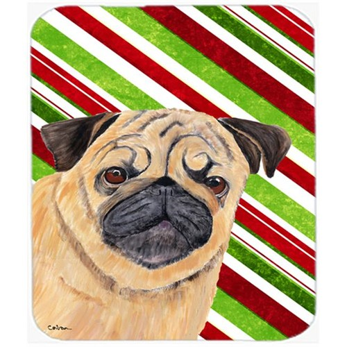 Carolines Treasures SC9331MP Pug Candy Cane Holiday Christmas Mouse Pad Hot Pad or Trivet