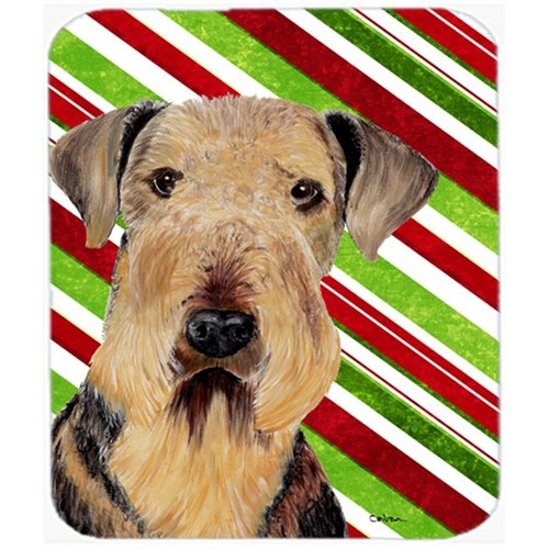 Carolines Treasures SC9333MP Airedale Candy Cane Holiday Christmas Mouse Pad Hot Pad or Trivet