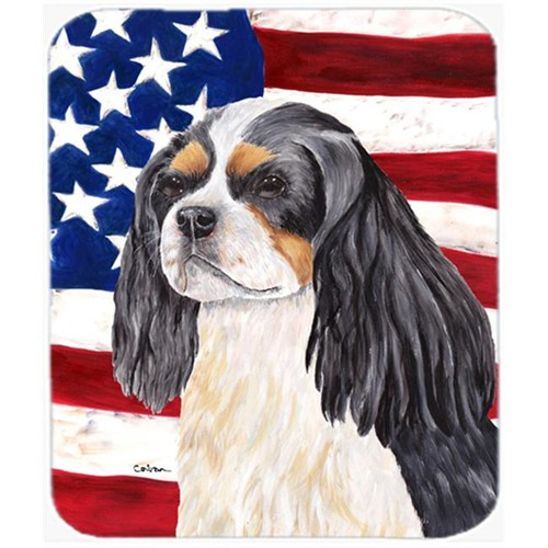 Carolines Treasures SC9114MP Usa American Flag With Cavalier Spaniel Mouse Pad Hot Pad Or Trivet