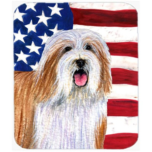 Carolines Treasures SS4245MP Usa American Flag With Bearded Collie Mouse Pad Hot Pad Or Trivet