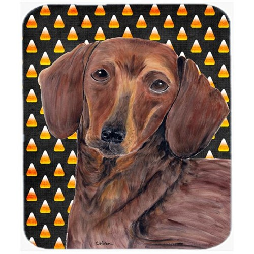 Carolines Treasures SC9178MP Dachshund Candy Corn Halloween Portrait Mouse Pad Hot Pad Or Trivet
