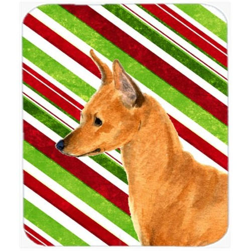 Carolines Treasures SS4535MP Min Pin Candy Cane Holiday Christmas Mouse Pad Hot Pad Or Trivet
