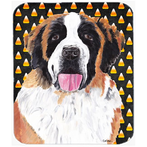 Carolines Treasures SC9165MP Saint Bernard Candy Corn Halloween Portrait Mouse Pad Hot Pad Or Trivet