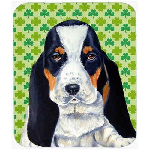 Carolines Treasures LH9194MP Basset Hound St. Patricks Day Shamrock Portrait Mouse Pad Hot Pad or Trivet