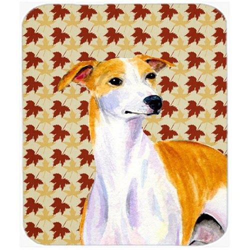 Carolines Treasures LH9103MP Whippet Fall Leaves Portrait Mouse Pad Hot Pad or Trivet