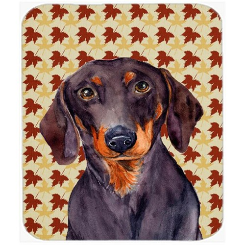 Carolines Treasures LH9088MP Dachshund Fall Leaves Portrait Mouse Pad Hot Pad Or Trivet