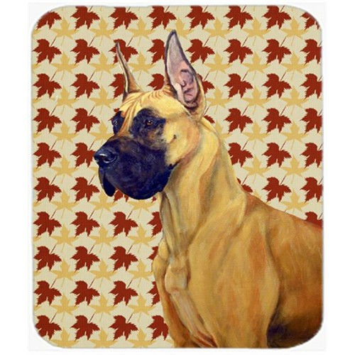 Carolines Treasures LH9085MP Great Dane Fall Leaves Portrait Mouse Pad Hot Pad Or Trivet