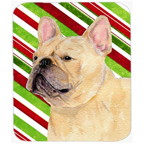 Carolines Treasures SS4554MP French Bulldog Candy Cane Holiday Christmas Mouse Pad Hot Pad Or Trivet
