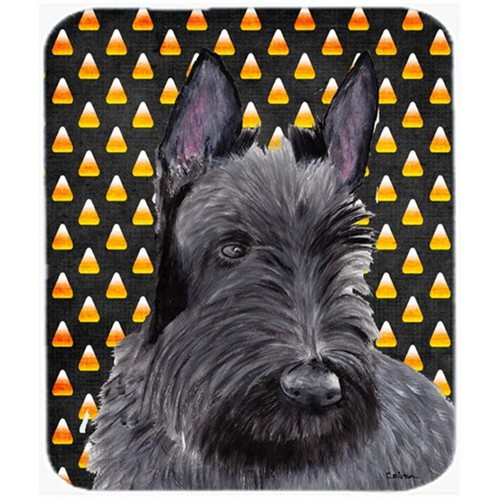 Carolines Treasures SC9184MP Scottish Terrier Candy Corn Halloween Portrait Mouse Pad Hot Pad Or Trivet