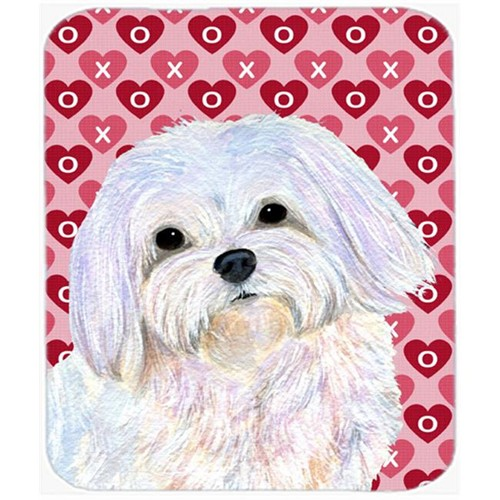 Carolines Treasures SS4482MP Maltese Hearts Love And Valentines Day Portrait Mouse Pad Hot Pad Or Trivet