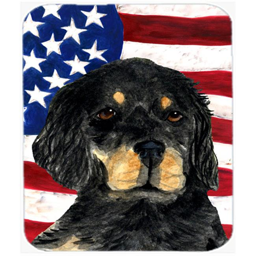 Carolines Treasures SS4042MP Usa American Flag With Gordon Setter Mouse Pad Hot Pad Or Trivet