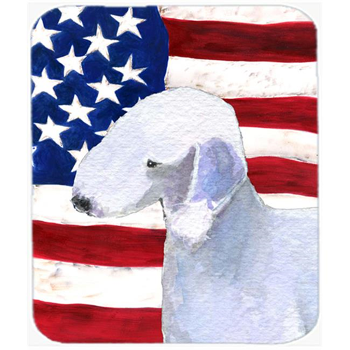 Carolines Treasures SS4045MP Usa American Flag With Bedlington Terrier Mouse Pad Hot Pad Or Trivet