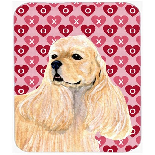 Carolines Treasures SS4522MP Cocker Spaniel Hearts Love And Valentines Day Mouse Pad Hot Pad Or Trivet