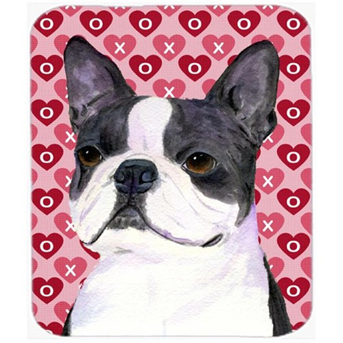 Carolines Treasures SS4516MP Boston Terrier Hearts Love And Valentines Day Mouse Pad Hot Pad Or Trivet
