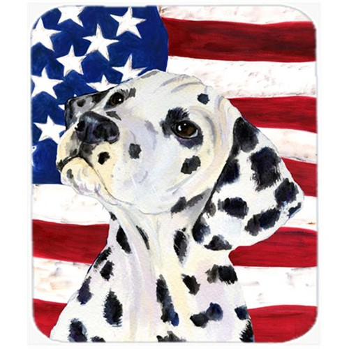 Carolines Treasures SS4018MP Usa American Flag With Dalmatian Mouse Pad Hot Pad Or Trivet