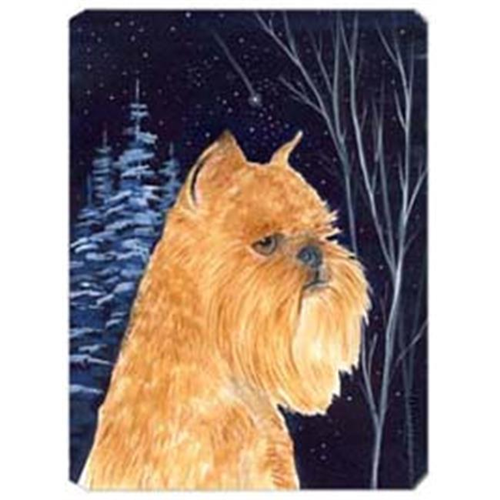 Carolines Treasures SS8362MP Starry Night Brussels Griffon Mouse Pad Hot Pad & Trivet