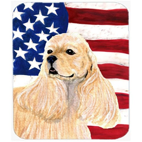 Carolines Treasures SS4006MP Usa American Flag With Cocker Spaniel Mouse Pad Hot Pad Or Trivet