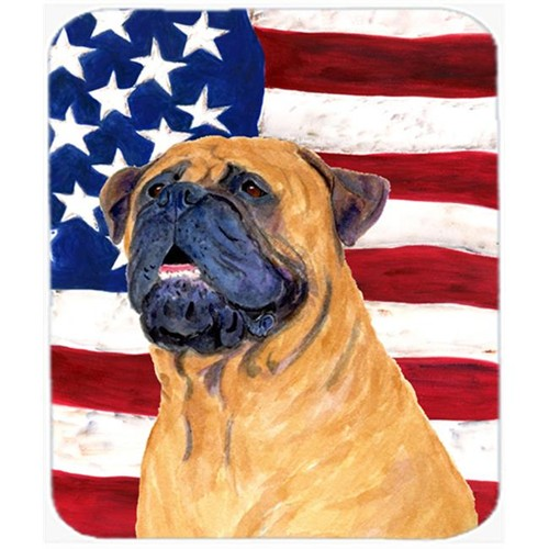 Carolines Treasures SS4004MP Usa American Flag With Bullmastiff Mouse Pad Hot Pad Or Trivet