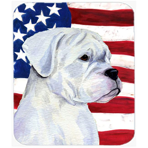Carolines Treasures SS4036MP Usa American Flag With Boxer Mouse Pad Hot Pad Or Trivet