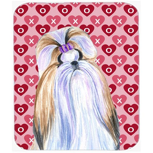 Carolines Treasures SS4465MP Shih Tzu Hearts Love And Valentines Day Portrait Mouse Pad Hot Pad Or Trivet