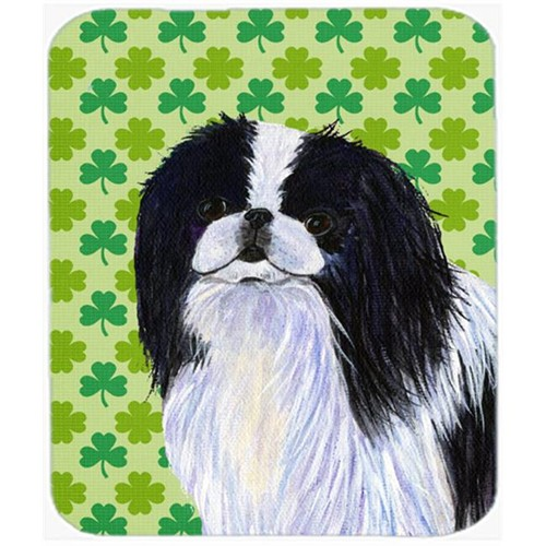 Carolines Treasures SS4398MP Japanese Chin St. Patricks Day Shamrock Portrait Mouse Pad Hot Pad Or Trivet
