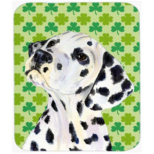 Carolines Treasures SS4423MP Dalmatian St. Patricks Day Shamrock Portrait Mouse Pad Hot Pad Or Trivet