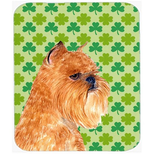 Carolines Treasures SS4425MP Brussels Griffon St. Patricks Day Shamrock Mouse Pad Hot Pad Or Trivet