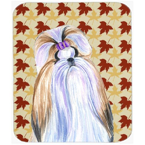 Carolines Treasures SS4391MP Shih Tzu Fall Leaves Portrait Mouse Pad Hot Pad Or Trivet