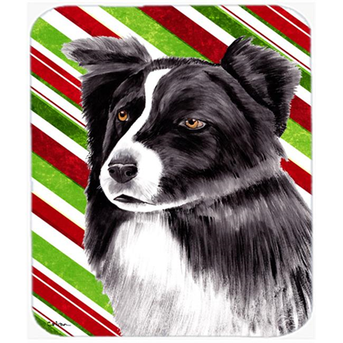 Carolines Treasures SC9327MP Border Collie Candy Cane Holiday Christmas Mouse Pad Hot Pad or Trivet
