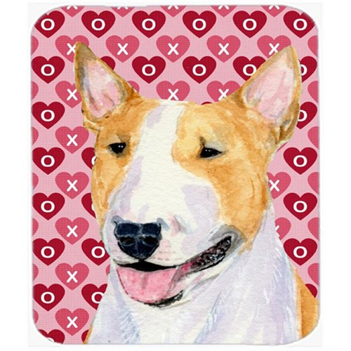 Carolines Treasures SS4496MP Bull Terrier Hearts Love And Valentines Day Mouse Pad Hot Pad Or Trivet