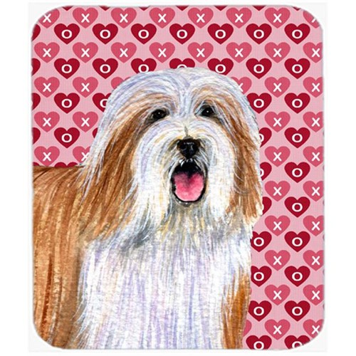 Carolines Treasures LH9150MP Bearded Collie Hearts Love And Valentines Day Mouse Pad Hot Pad or Trivet