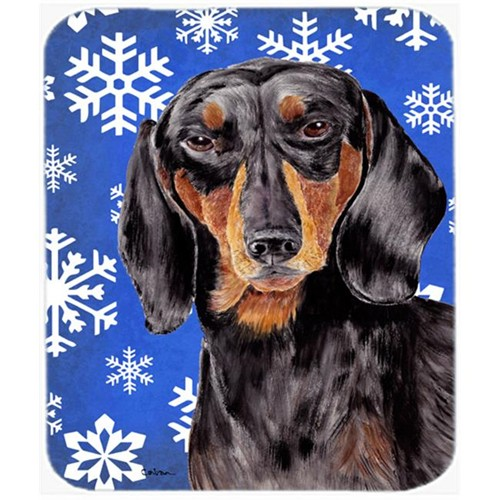 Carolines Treasures SC9363MP Dachshund Winter Snowflakes Holiday Mouse Pad Hot Pad or Trivet
