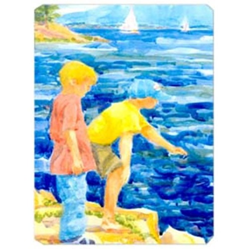 Carolines Treasures 6008MP 9.5 x 8 in. The Boys at the lake Or beach Mouse Pad Hot Pad Or Trivet