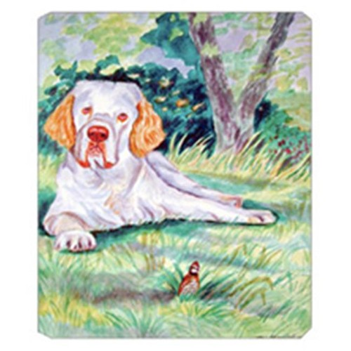 Carolines Treasures 7113MP 8 x 9.5 in. Clumber Spaniel Mouse Pad Hot Pad Or Trivet