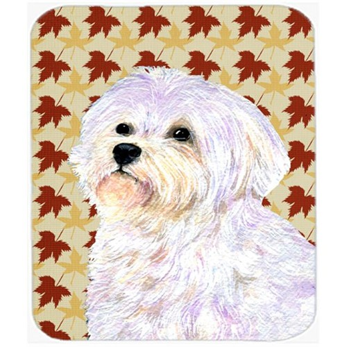 Carolines Treasures SS4375MP Maltese Fall Leaves Portrait Mouse Pad Hot Pad Or Trivet