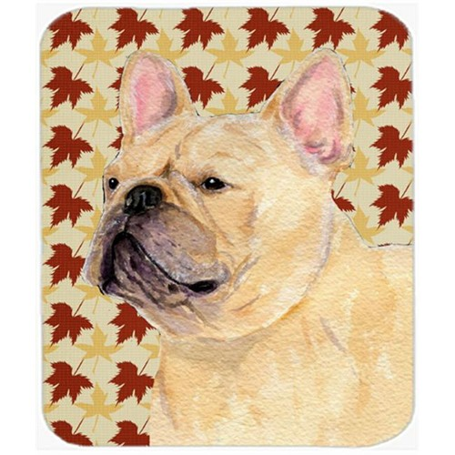 Carolines Treasures SS4371MP French Bulldog Fall Leaves Portrait Mouse Pad Hot Pad Or Trivet
