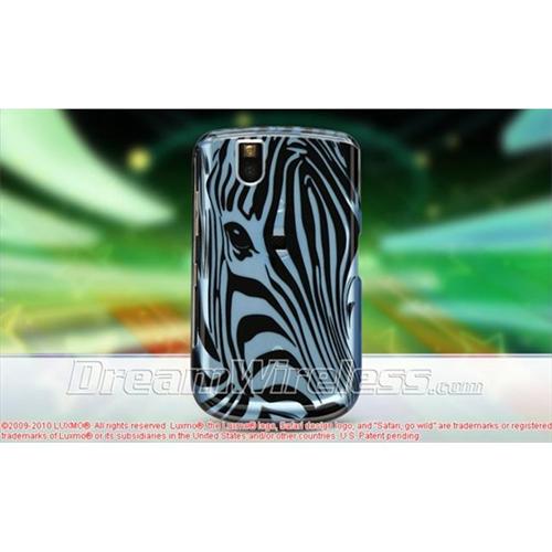 DreamWireless CABB9630BLZF Blackberry 9630 Tour Crystal Case - Blue Zebra Face