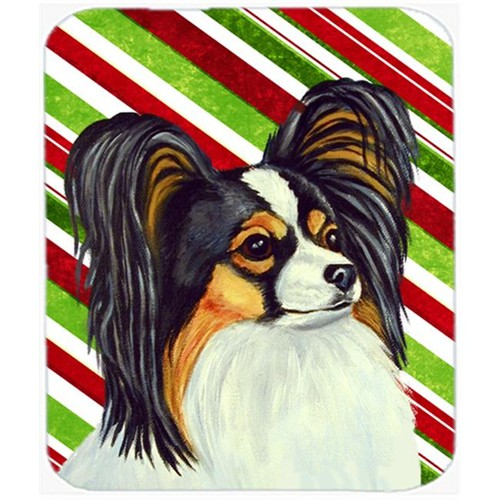 Carolines Treasures LH9255MP Papillon Candy Cane Holiday Christmas Mouse Pad Hot Pad Or Trivet
