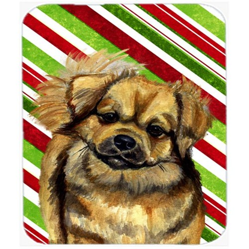 Carolines Treasures LH9259MP Tibetan Spaniel Candy Cane Holiday Christmas Mouse Pad Hot Pad Or Trivet