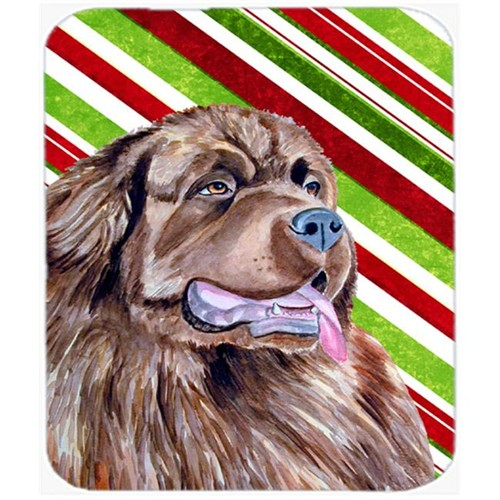 Carolines Treasures LH9219MP Newfoundland Candy Cane Holiday Christmas Mouse Pad Hot Pad Or Trivet