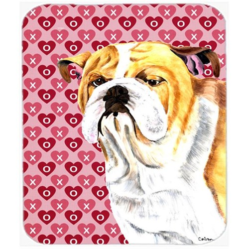 Carolines Treasures SC9265MP Bulldog English Hearts Love And Valentines Day Mouse Pad Hot Pad Or Trivet